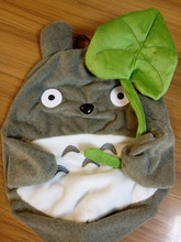 lovely plush toy skin, my neighbor totoro plush toy hull cute soft doll totoro coat with lotus leaf kids toys Cat