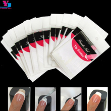 150Sheet Mix Design French Nail Tip Sticker White Manicure Nail Art Foams Fringe Guides DIY Stencil Stylish Nail Tools Wholesale