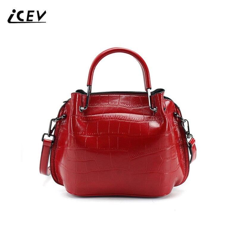 ICEV Organizer Women Leather Bag Handbag Women Famous Brands Alligator Designer Handbag High Quality Ladies Totes Bolsa Feminina<br>