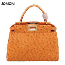 high quality ostrich cowhide genuine leather handbags bags for women famous brand designer shoulder messenger tote bags