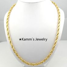 55cm*5mm Quality Silver 316 Stainless Steel Necklace Gold chain For Men jewellery accessories Party Gifts Wholesale Rock KN111