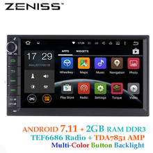 ZENISS 2 din Android7.11 2GB RAM GPS Car Radio 2din New Universal Car GPS without dvd car double din Stereo video XJ7010
