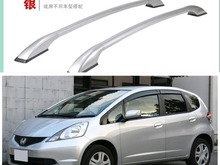 Decorative Side Bars Rails Roof Rack Silver Fit For Honda Fit Jazz 2009 2010 2011 2012 2013 2nd Generation