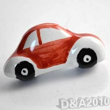 Modern Red Car Ceramic Kitchen Cabinet Cupboard Door Drawer Pull Knob Handle