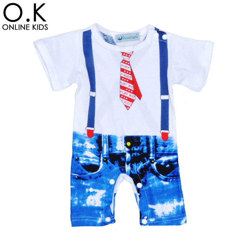 Summer Style Baby Jumpsuits&amp;Rompers Newborn Clothes Tie Strap Printed Girl Boy Romper 2017 Fashion Short Sleeve Infant Clothing<br><br>Aliexpress