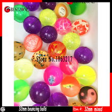 Mixed Colorful Bouncy Balls 32mm With Factory Price
