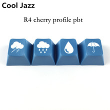 Thick PBT Material 4 Keycaps personality Customization cherry profile dye sublimation Dye-sub ye-sub for Mechanical keyboard(China)