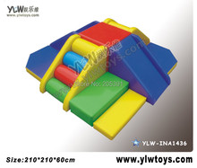 soft slide play equipment,kids climbing amusement equipment toys,kids soft playground(China)