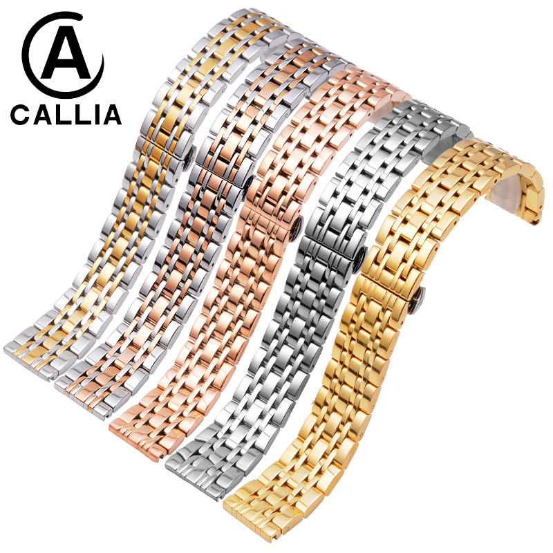 High Quality Stainless Steel watch strap 22 20 18mm 16mm 14mm For AR1648/0389 men and women Watch Band Golden Rose gold Silver<br>