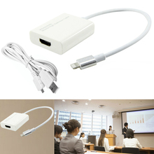 Plug and Play HDMI Adapter Charger Video Cable Phone to TV HDTV for iPhone 8 8 plus 6 6S 7 7 Plus 5 5S iPad Pro Air Mini 4 3 2(China)