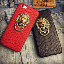 New Hot Sale Lion's head Holder Hard Phone Back Cover Phone Case For Iphone 5 5S YC1237