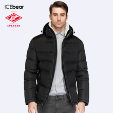 SPARTAK-ICEbear Joint Production 2016 Winter Men Slim Three Colors Coat Jacket Short Warm High Quality Men Parka16M875D(China)