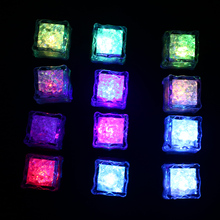 12Pcs Led Ice Cube Casamento Light Cube Wedding Decoration Mariage Birthday Party Decorations Kids Party Supplies