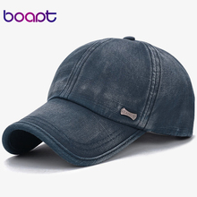 [boapt] classic fashion metal label cotton men baseball caps summer snapback cap unisex vintage sun hat man fashion women hats(China)