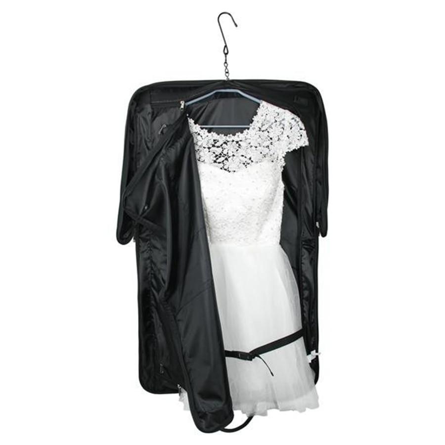 9ccbd0aca1 Lightweight Black Nylon Business Dress Garment Bag With Hanger Clamp  Waterproof Suit Bag Durable Men S Garment Suit Travel Bag