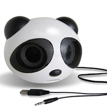 Gosear Mini Panda Shape USB2.0 Portable Active Speaker Stereo for Laptop Notebook Cellphone Sony Walkman iPhone iPod MP3 Player