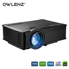 OWLENZ 1500 Lumens SD50 LCD Mini Projector Home Theater Movie Multimedia Video LED Proyector HD Projectors Beamer HDMI USB AV(China)