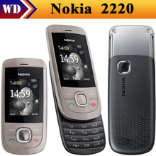 original nokia 2220 slide Mobile Phones,Unlocked nokia 2220s cell phones mp3 player free shipping Refurbished(China)