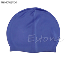 THINKTHENDO Great quality Adult Swimming Hat Sports Silicone Swimming Cap Flexible Durable Elasticity  HOT
