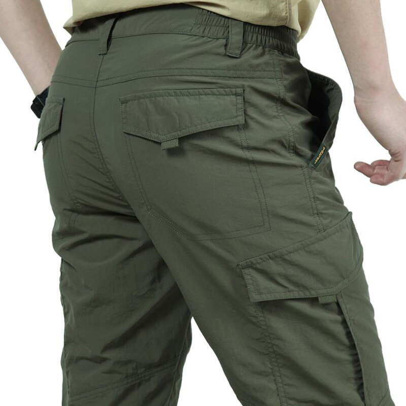 Waterproof Trousers Cargo-Pants Multi-Pockets Outdoorsports Military Army Summer Mens title=