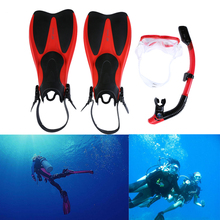 Swim Fins for Adult Men Women Snorkel Mask Swimming Diving Snorkeling Diving Mask  Flippers Swimming Frog Shoes Set for Adults