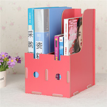 Magazine storage box office accessories file rack book shelf diy wooden box storage rack home orgainzer