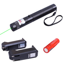 Green Laser Pointer Sight Laser Pen Powerful Rifle Scope 532nm Fixed Focus With Star Cap+Charger +18650 Battery HT3-0019-2(China)