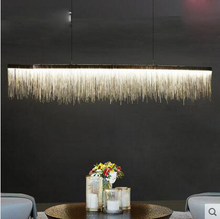 Postmodern designer chandelier Nordic tassel restaurant luxury hotel engineering chain living room art hanging lights for home