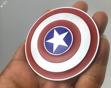 2 Pieces Captain America Car-styling Metal Car Stickers Decoration Metal The shield Car Exterior Decal Accessory for Motorcycle(China)