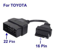 22pin to 16pin OBD1 to OBD2 Connect Cable OBD Adapter Cable For TOYOTA