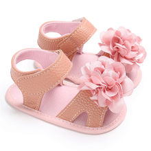 2017 Hot Selling New Fashion Summer KLV Kids Shoes Baby Girl Crib Shoes Flower Soft Sole Anti-slip Baby Sneakers hot on sale(China)