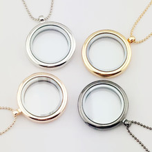 New Can Open Memory Living Magnet Glass Floating Locket Pendant Necklace For Women Jewelry 8152