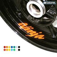 8 X CUSTOM INNER RIM DECALS WHEEL Reflective STICKERS STRIPES FIT KAWASAKI NINJA(China)