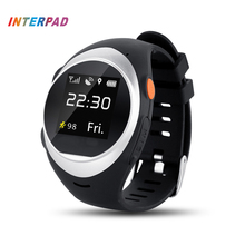 Interpad GPS Tracking Smart Watch Elderly Anti-lost Wrist Watch Cellphone Support SIM Card Pedometer Smartwatch For Android IOS(China)