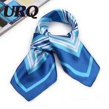 Women Bandanas Silk fashion soft light weight for anytime women square hair and head scarf 60*60cm S6A6147(China)