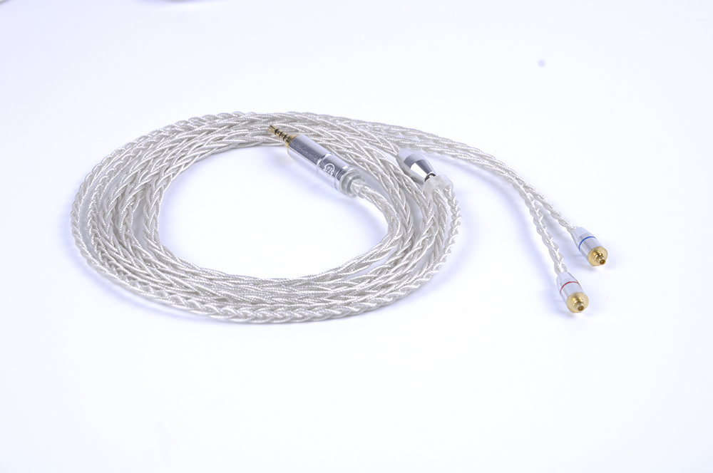 New LZ Silver Plated Cable 4.4/3.5/2.5mm Upgrade Silver Cable With MMCX Connector For LZ A3 A4 DQSM Sony NW-WM1Z Earphones