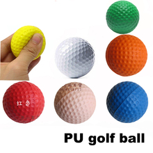 30 pcs/bag Indoor Outdoor Training Practice Golf Ball Sports Elastic PU Foam Balls Free Shipping factory wholesale(China)