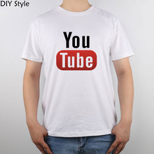 Youtube Image t-shirt Top Pure Cotton Men T Shirt New Design High Quality