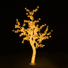 Outdoor Waterproof Artificial 1.5M Led Cherry Blossom Tree Lamp 480LEDs Yellow Christmas Tree Light for Home Festival Decoration