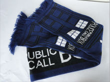 Brandnew Doctor Who TARDIS Design Deluxe double-layer Soft Warm Knitted Scarf Christmas Birthday Gifts(China)
