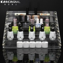 1 Pcs 6 Tiers Removable Acrylic Clear Nail Polish Shelf Cosmetic Varnish Display Stand Rack Holder Women Makeup Organizer Case(China)