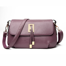 Women Genuine Leather Messenger Bags Sac a Main Shoulder Bags Women Crossbody Bag Ladies High Quality Cow skin Handbags