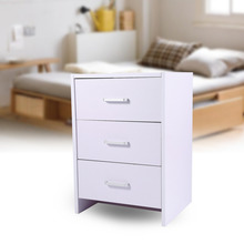 2 3 Drawer Minimalist Modern Bedroom Bedside Cabinet Fashion Black White Nightstand For Home Furniture