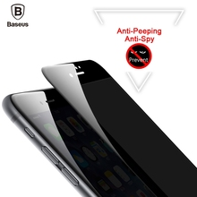 Buy Baseus Anti-Spy Screen Protector iPhone 8 7 Anti Peeping Tempered Glass iPhone 7 8 Plus Soft Edge 3D Full Cover Film for $7.95 in AliExpress store