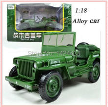 2017 Low Price KDW 1:18 Tactical Jeep Military Car Truck Construction Vehicle Diecasts Model Artificial Car-Styling Kid Toy Gift(China)