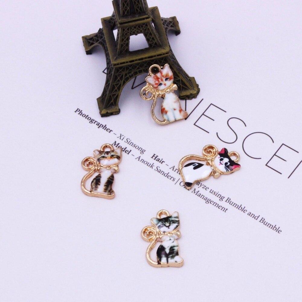 10X White Enamel Love Round Charm Pendant For DIY Earrings//Necklace//Bracelet