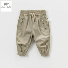 DB4878 dave bella spring autumn baby girls boys khaki cotton pants fashion pencil pants kid trousers(China)