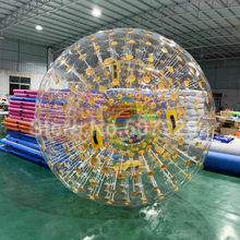 Free Shipping 3M Dia Inflatable Zorbing Ball Human Size Hamster Ball For Grassland PVC/TPU Outdoor Gravity Orb/Zorb Ball(China)