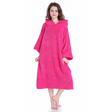 Changing Robe Surf Poncho Towel With Hood Staying Warm Soft Water absorption Bath Towel(China)
