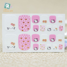Y5542 Fashion sexy beauty Auto Stick Toe Nail Art Foil Stickers Pink Cute Hello Kitty Dots Manicure Adhesive Decal Nail Wraps
